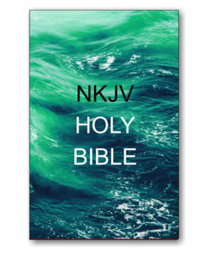 Holy Bible - NKJV (paperback) green