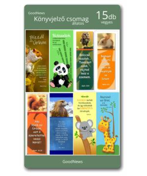 Könyvjelző - (15db) állatos