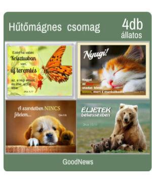 Hűtőmágnes - (4db) állatos