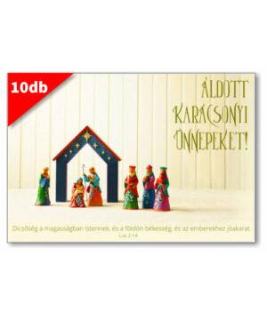 Karácsonyi - képeslap - nyílt 01 (10db)