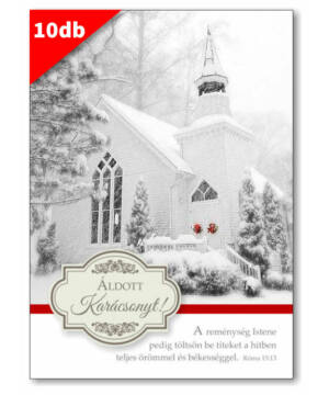 Karácsonyi - képeslap - nyílt 03 (10db)