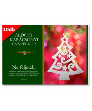 Karácsonyi - képeslap - nyílt 11 (10db)