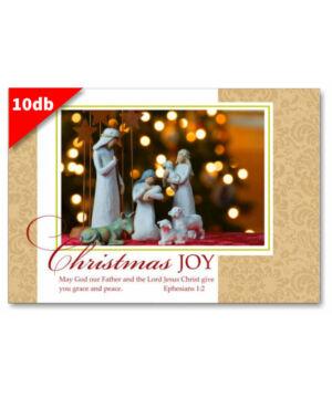 Karácsonyi - képeslap - nyílt 12 (10db)