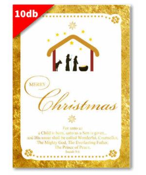 Karácsonyi - képeslap - nyílt 13 (10db)