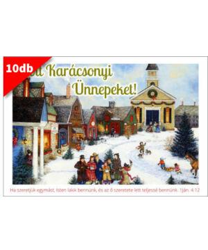 Karácsonyi - képeslap - nyílt 04 (10db)