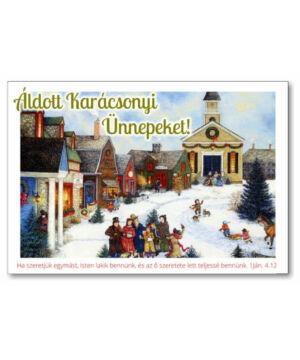 Karácsonyi képeslap - nyílt 04