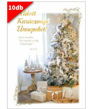 Karácsonyi - képeslap - nyílt 10 (10db)