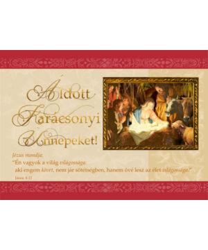Karácsonyi képeslap - nyílt 05