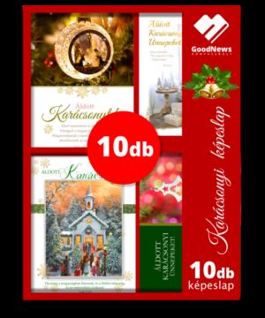 Karácsonyi - képeslap - nyílt (10db) vegyes