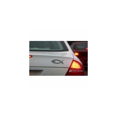 Autó embléma (hal kicsi, ezüst színű )