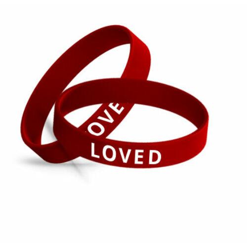 Karkötő - LOVED / piros