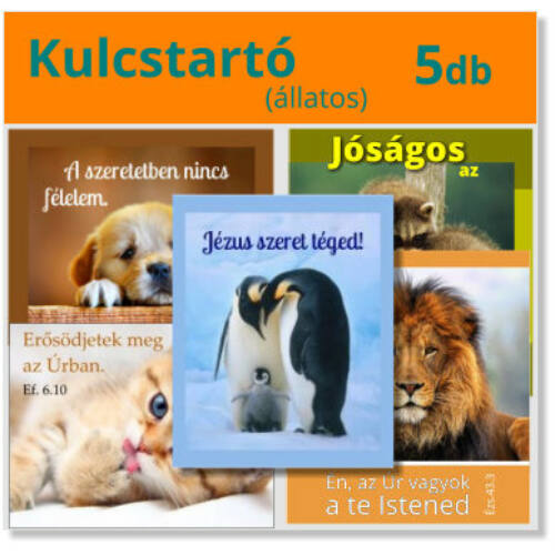 Kulcstartó - (5db) állatos