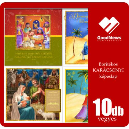 B/Kar.képeslap (arany) 10db vegyes
