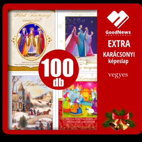EXTRA - kar. képeslap - vegyes (100db-os csomag)