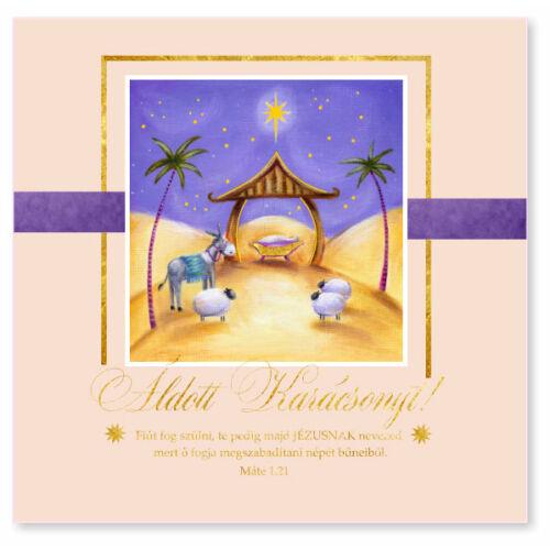 B/Kar.képeslap (arany) - 04