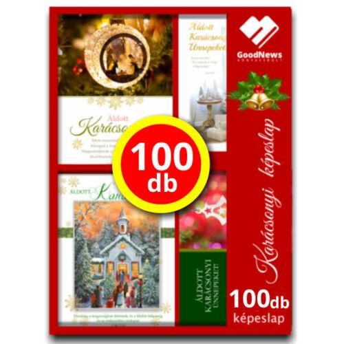 Karácsonyi - képeslap - nyílt (100db) vegyes