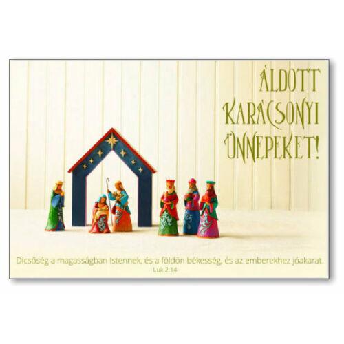 Karácsonyi képeslap - nyílt 01