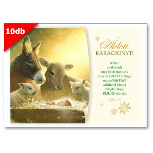 Karácsonyi - képeslap - nyílt 06 (10db)