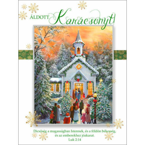 Karácsonyi képeslap - nyílt 07