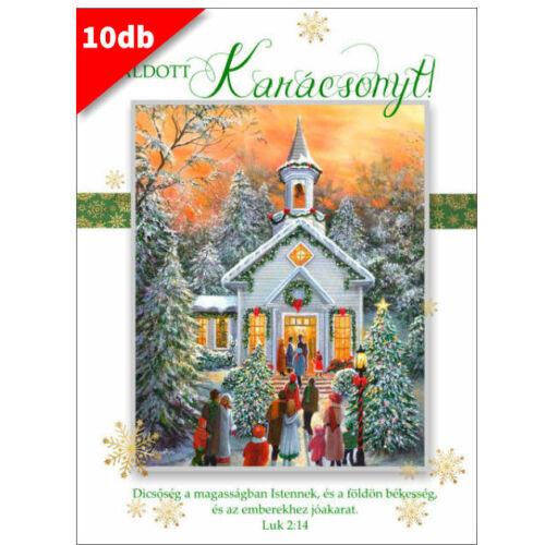 Karácsonyi - képeslap - nyílt 07 (10db)
