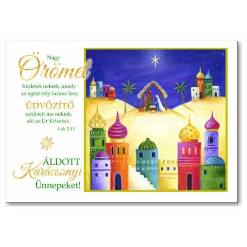 Karácsonyi képeslap - nyílt 08