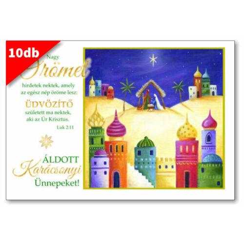 Karácsonyi - képeslap - nyílt 05 (10db)