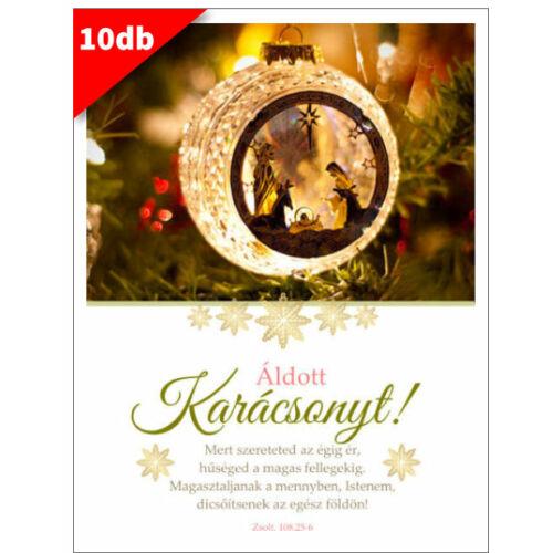 Karácsonyi - képeslap - nyílt 09 (10db)