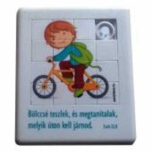 Tologatós kirakó játék - (bicikli)