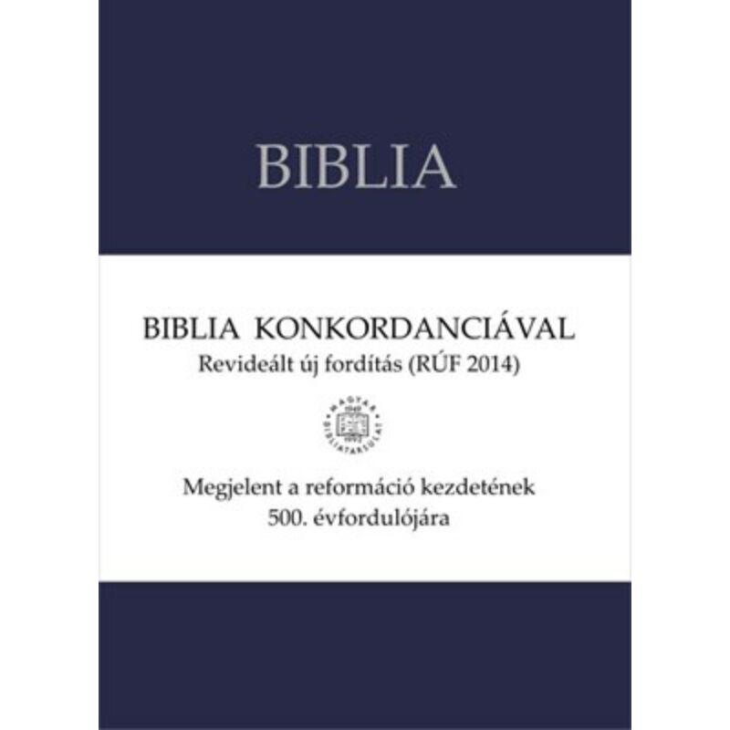 Biblia - RÚF (Konkordanciával) - sötétkék (vászon)