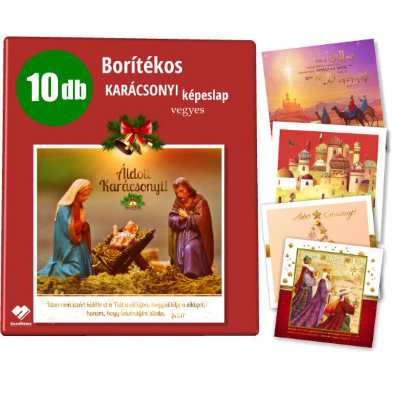 B/A Kar.képeslap (arany) 10db (vegyes)