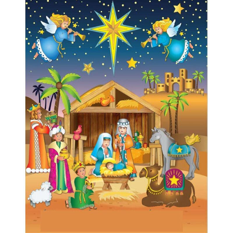 Karácsonyi matrica - Betlehem