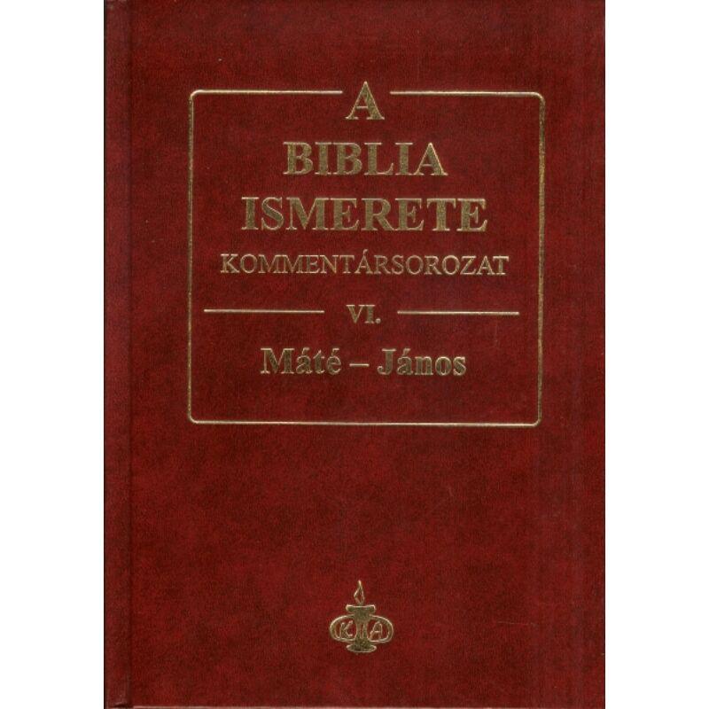A Biblia ismerete kommentár VI.rész / Máté-János