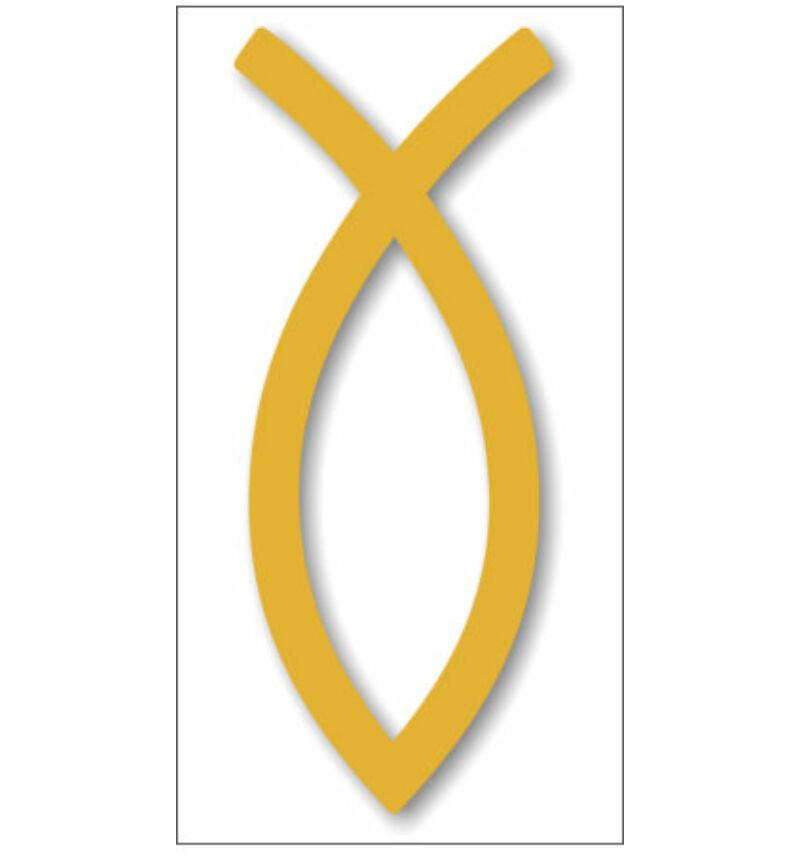 Autó embléma (hal kicsi, arany színű)