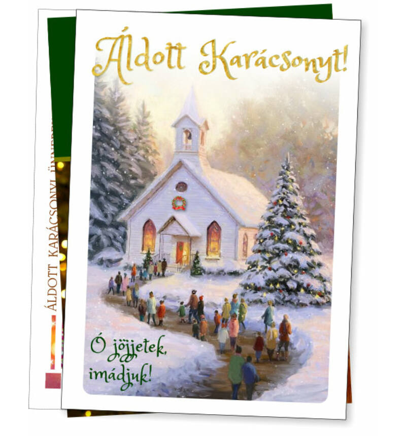 Képeslap - karácsonyi / nyílt (10db) vegyes