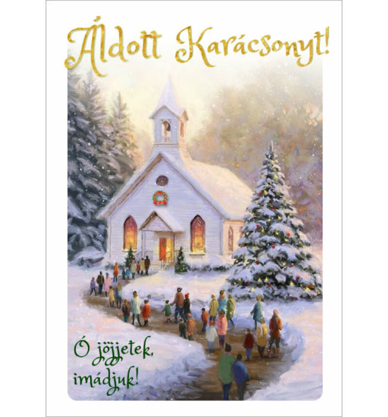 Képeslap - karácsonyi / nyílt 04