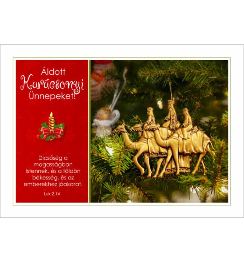 Képeslap - karácsonyi / nyílt 06