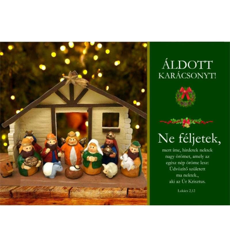 Képeslap - karácsonyi / nyílt 09